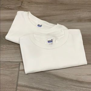 NWOT a set of 2 men's plain White T-shirts
